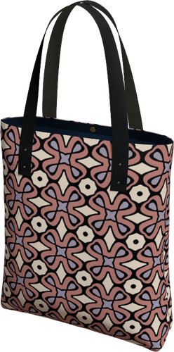 The Jane Tote Bag in Tuscany-Tote Bag-Clash Patterns by Jennifer Akkermans