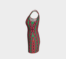 Load image into Gallery viewer, The Janelle Fitted Dress in Sienna-Clash Patterns
