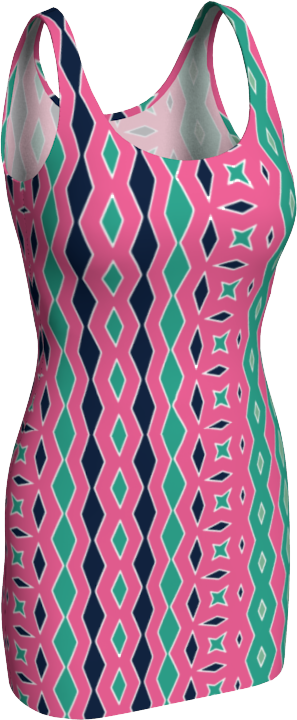 The Janelle Fitted Dress in Watermelon