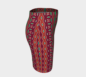 The Janelle Fitted Skirt in Sienna-Clash Patterns