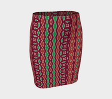 Load image into Gallery viewer, The Janelle Fitted Skirt in Sienna-Clash Patterns