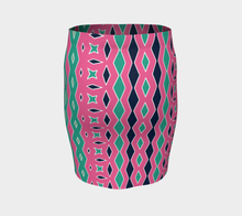 Load image into Gallery viewer, The Janelle Fitted Skirt in Watermelon-Clash Patterns
