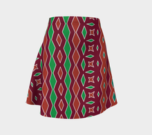 Load image into Gallery viewer, The Janelle Flare Skirt in Sienna-Clash Patterns