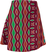 Load image into Gallery viewer, The Janelle Flare Skirt in Sienna-Flare Skirt-Clash Patterns by Jennifer Akkermans