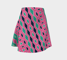 Load image into Gallery viewer, The Janelle Flare Skirt in Watermelon-Clash Patterns