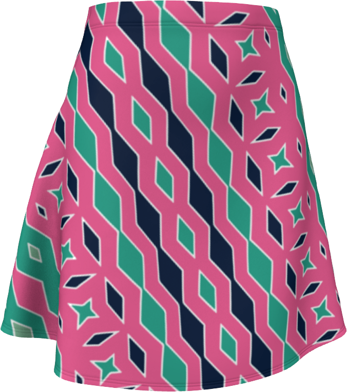 The Janelle Flare Skirt in Watermelon