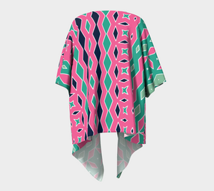 The Janelle Kimono in Watermelon-Clash Patterns