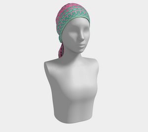 The Janelle Long Scarf in Watermelon-Clash Patterns