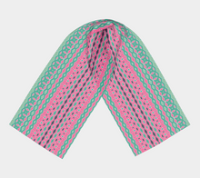 Load image into Gallery viewer, The Janelle Long Scarf in Watermelon-Clash Patterns