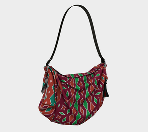 The Janelle Origami Bag in Sienna-Clash Patterns