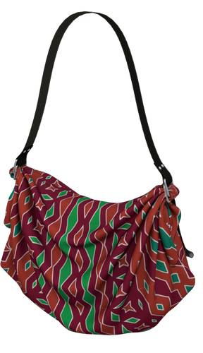 The Janelle Origami Bag in Sienna-Origami Tote-Clash Patterns by Jennifer Akkermans