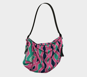 The Janelle Origami Bag in Watermelon-Clash Patterns