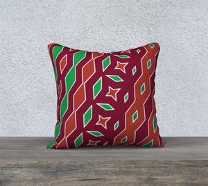 The Janelle Reversible Pillow in Sienna-Clash Patterns