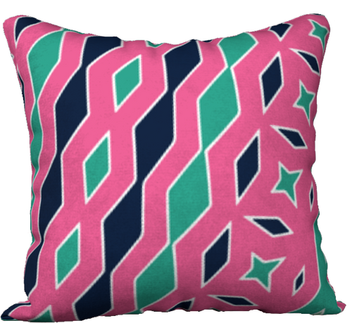The Janelle Reversible Pillow in Watermelon-18