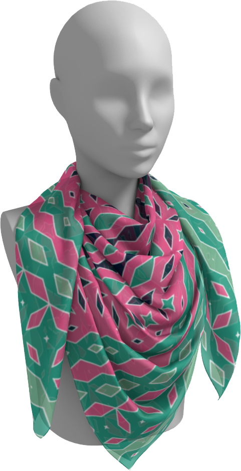 The Janelle Square Scarf in Watermelon
