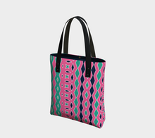 Load image into Gallery viewer, The Janelle Tote Bag in Watermelon-Clash Patterns