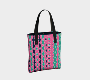 The Janelle Tote Bag in Watermelon-Clash Patterns