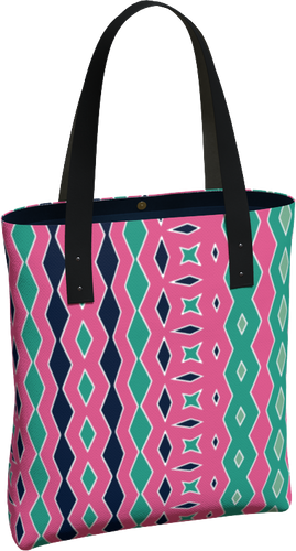 The Janelle Tote Bag in Watermelon-Tote Bag-Clash Patterns by Jennifer Akkermans