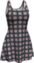 Load image into Gallery viewer, The Jennifer Flare Dress in Green and Pink