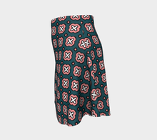 Load image into Gallery viewer, The Jennifer Flare Skirt in Green and Pink-Clash Patterns