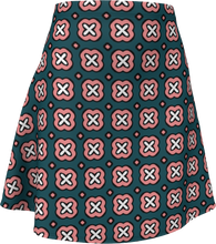 Load image into Gallery viewer, The Jennifer Flare Skirt in Green and Pink