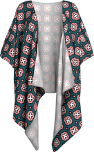 Load image into Gallery viewer, The Jennifer Kimono in Green and Pink-Draped Kimono-Clash Patterns by Jennifer Akkermans