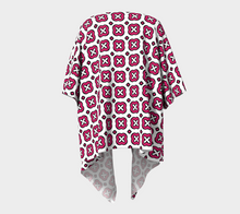 Load image into Gallery viewer, The Jennifer Kimono in Raspberry-Clash Patterns