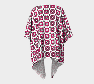 The Jennifer Kimono in Raspberry-Clash Patterns