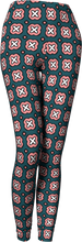 Load image into Gallery viewer, The Jennifer Leggings in Green and Pink-Leggings-Clash Patterns by Jennifer Akkermans