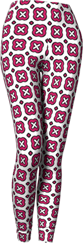 The Jennifer Leggings in Raspberry-Leggings-Clash Patterns by Jennifer Akkermans