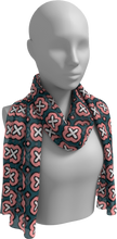 Load image into Gallery viewer, The Jennifer Long Scarf in Pink and Green-Long Scarf-Clash Patterns by Jennifer Akkermans