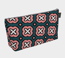 Load image into Gallery viewer, The Jennifer Makeup Bag in Green and Pink-Clash Patterns