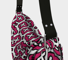 Load image into Gallery viewer, The Jennifer Origami Bag in Raspberry-Clash Patterns