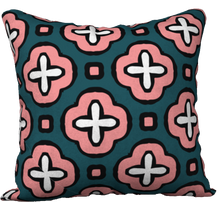 Load image into Gallery viewer, The Jennifer Reversible Pillow in Pink and Green