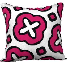 Load image into Gallery viewer, The Jennifer Reversible Pillow in Raspberry