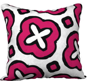 The Jennifer Reversible Pillow in Raspberry