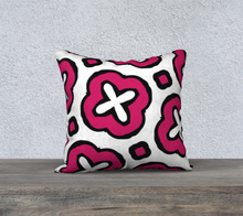 Load image into Gallery viewer, The Jennifer Reversible Pillow in Raspberry-Clash Patterns