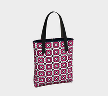 Load image into Gallery viewer, The Jennifer Tote Bag in Raspberry-Clash Patterns