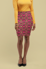 Load image into Gallery viewer, The Julie Fitted Skirt in Pink and Yellow