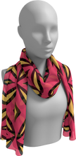 Load image into Gallery viewer, The Julie Long Scarf in Pink and Yellow-Long Scarf-Clash Patterns by Jennifer Akkermans