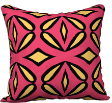Load image into Gallery viewer, The Julie Reversible Pillow in Pink and Yellow