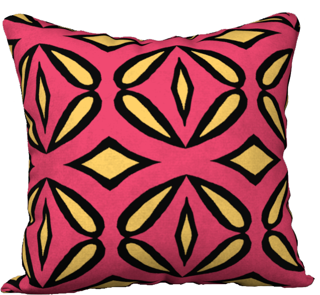 The Julie Reversible Pillow in Pink and Yellow