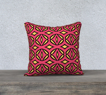 Load image into Gallery viewer, The Julie Reversible Pillow in Pink and Yellow-Clash Patterns