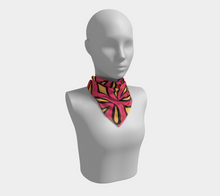 Load image into Gallery viewer, The Julie Square Scarf in Pink and Yellow