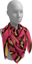 Load image into Gallery viewer, The Julie Square Scarf in Pink and Yellow-Square Scarf-Clash Patterns by Jennifer Akkermans