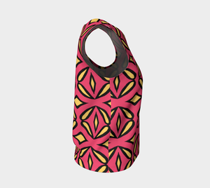 The Julie Tank Top in Pink and Yellow-Clash Patterns