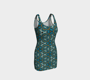 The Kylie Fitted Dress-Clash Patterns