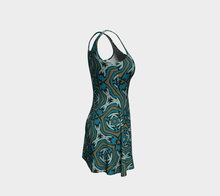 Load image into Gallery viewer, The Kylie Flare Dress-Clash Patterns