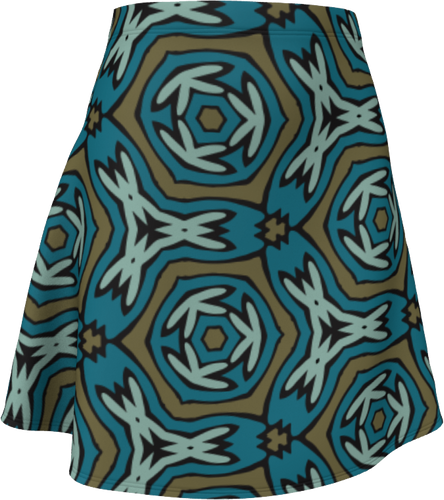 The Kylie Flare Skirt-Flare Skirt-Clash Patterns by Jennifer Akkermans