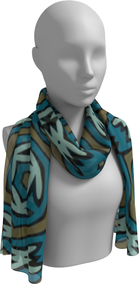 The Kylie Long Scarf in Greens